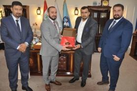 Al-Ghabban receives representatives of Imam Hussaini(PBUH) shrine