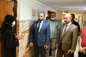 Prof. Dr. Al-Ghaban Inspecting the University and Dormitories of Female Students