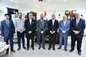 The President of the University of Technology Receives a Delegation from the Iraqi Engineers
